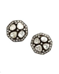Amrapali | Metallic Natural Cut Diamond Stud Earrings | Lyst