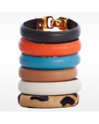 Linea Pelle | Black Hook Closure Bracelet | Lyst