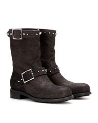Jimmy Choo - Brown Dash Metallic Leather Boots - Lyst