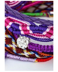 Missguided - Latica Braid Bracelet in Purple - Lyst