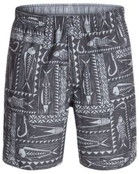 Quiksilver | Gray Waterman Gone Fishing Swim Shorts for Men | Lyst