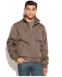 Calvin Klein | Brown Big & Tall Full-zip Ripstop Bomber Jacket for Men | Lyst