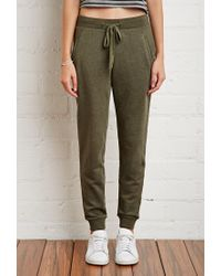 Forever 21 | Green Drawstring French Terry Sweatpants | Lyst