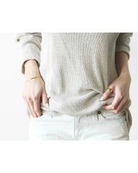 Vrai & Oro | Pink Bar Bracelet With Diamond | Lyst