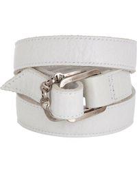 Hoorsenbuhs - Natural Leather Wrap Bracelet - Lyst