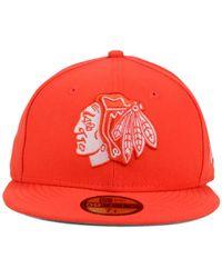 KTZ - Orange Chicago Blackhawks C-dub 59fifty Cap for Men - Lyst