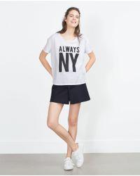 Zara | Black Cities T-shirt | Lyst