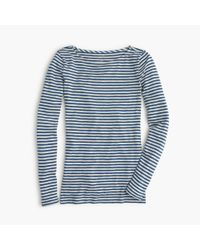 J.Crew | Blue Painter Boatneck T-shirt In Stripe | Lyst