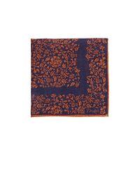 Drake's - Blue Men's Floral Pocket Square for Men - Lyst