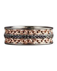 Stephen Webster   Metallic Black Sapphire Chain Ring for Men   Lyst
