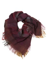 Contileoni - Red Stone Wash Kefya Checked Scarf for Men - Lyst