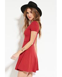 Forever 21 - Red V-neck Skater Dress You've Been Added To The Waitlist - Lyst