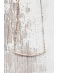 Forever 21 | Metallic Shashi Rhinestone Bar Necklace | Lyst