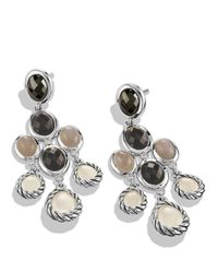 David Yurman | Metallic Grisaille Chandelier Earrings With Moon Quartz And Smoky Quartz | Lyst