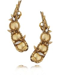 Erickson Beamon | Metallic Velocity Gold-Plated Swarovski Crystal Earrings | Lyst