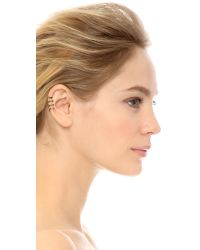 House of Harlow 1960 - Metallic Engraved 4 Ring Ear Cuff Gold - Lyst