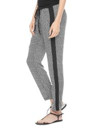 Splendid - Black Basket Weave Print Pant - Lyst