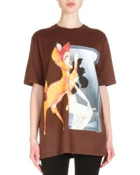 Givenchy | Black Bambi-print Short-sleeve T-shirt | Lyst