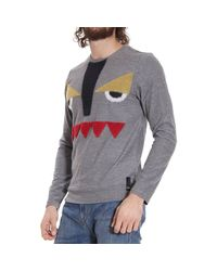 Fendi | Gray Sweater for Men | Lyst