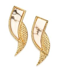 Stephanie Kantis | Metallic Mammoth Howlite Long Earrings | Lyst