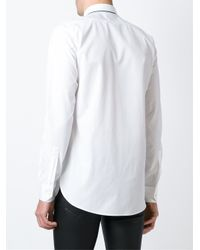 Saint Laurent - White Trim Detail Shirt for Men - Lyst