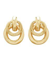 Lord & Taylor | 14k Yellow Gold Doorknocker Earrings | Lyst