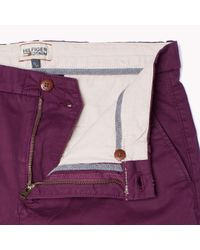 Tommy Hilfiger - Purple Stretch Cotton Chino for Men - Lyst