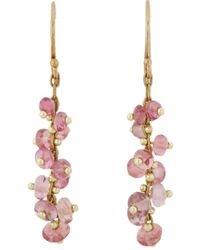 Ten Thousand Things   Metallic Pink Sapphire & Gold Short Spiral Drop Earrings   Lyst