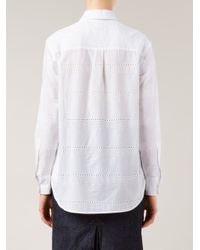 Equipment - White 'Margaux' Shirt - Lyst