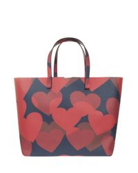 Victoria Beckham - Blue Hearts Shopper - Lyst