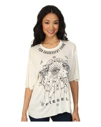 DIESEL - White T-rachel-f T-shirt - Lyst