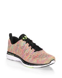 Athletic Propulsion Labs - Pink Techloom Pro Knit Sneakers - Lyst
