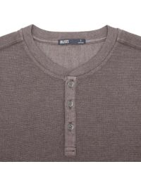 Onassis Clothing | Brown Waffle Henley for Men | Lyst