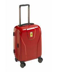Ferrari | Red 'hi-tech - Cabin' Wheeled Carry-on for Men | Lyst