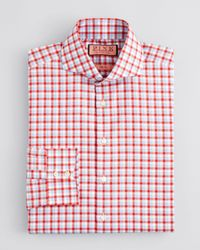 Lyst - Thomas pink Gilham Check Dress Shirt - Regular Fit in Red ...