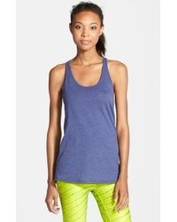Under Armour - Blue 'ultimate' Scoop Neck Tank - Lyst