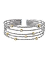Charriol | Metallic 5row Cable Square Station Bracelet | Lyst