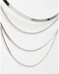 ALDO - Metallic Paludon Choker Necklace - Lyst
