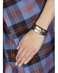 McQ - Black Razor Leather Wrap Bracelet - Lyst