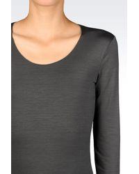 Armani | Gray Print T-shirt | Lyst