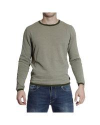 Fendi   Gray Sweater Roundneck Cotton Micro Damie for Men   Lyst