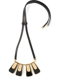 Marni - Metallic Trapeze Pendant Necklace - Lyst