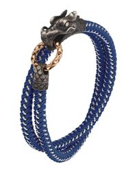 John Hardy - Blue Naga Nylon Cord Wrap Bracelet for Men - Lyst