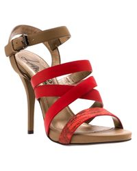 Lanvin | Red Strappy Sandal | Lyst
