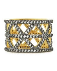 Freida Rothman | Metallic Wide Cz Geometric Cutout Ring | Lyst