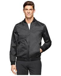 Calvin Klein - Black Textured Nylon Light Jacket for Men - Lyst