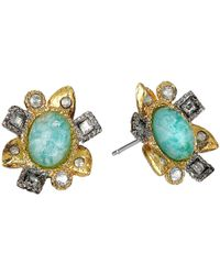 Alexis Bittar | Blue Mosaic Post W/ Rose Cut Amazonite Doublet Earrings | Lyst
