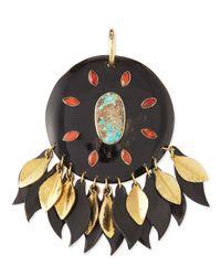 Ashley Pittman - Black Ndoto Dark Horn Medallion Pendant - Lyst