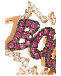 Diane Kordas - Pink Boom 18-karat Rose Gold, Diamond And Sapphire Ring - Lyst