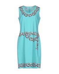 Boutique Moschino | Blue Short Dress | Lyst